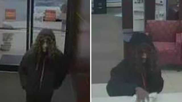 Surveillance images of Wells Fargo bank robbery suspect