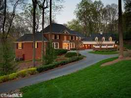 This five bedroom Winston-Salem estate is priced at $1,595,000.