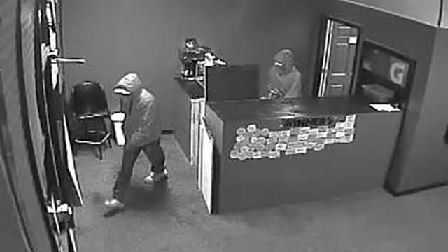 Surveillance image of Reidsville sweepstakes armed robbery suspects