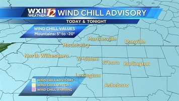 A major blast of cold air is moving in Wednesday.