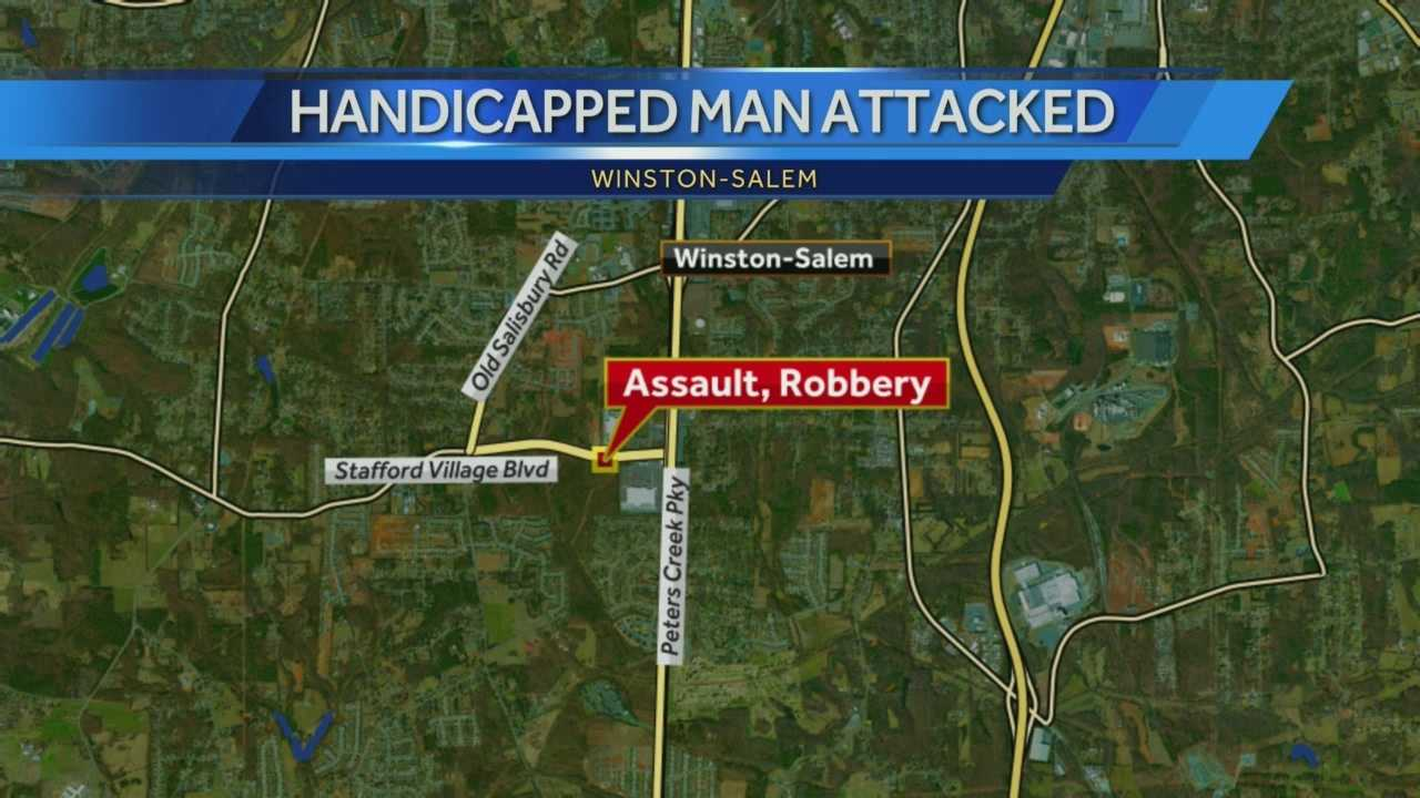 Teens assault handicapped man during robbery