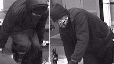 Surveillance images of Danville bank robbery suspects