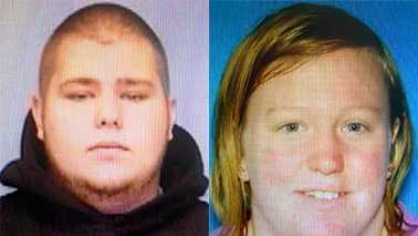 Tyler Pierce, left, and Samantha Shilts, right