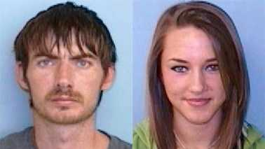 Joshua Lewis, left, and Megan Cain, right