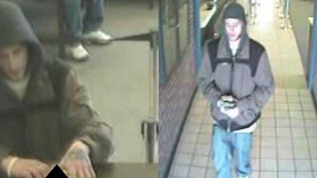 Surveillance image of Winston-Salem credit union robbery suspect
