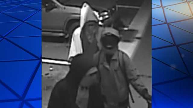 Surveillance image of suspects in Greensboro sweepstakes armed robbery