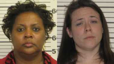 Precilla Stone, left, and Emily Hill, right