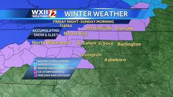 Winter weather advisories have been issued for much of the WXII viewing area.