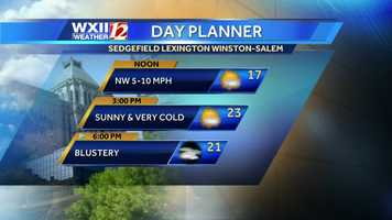 First, here is Friday's day planner for the Piedmont. VIDEO: Watch Brian Slocum's forecast