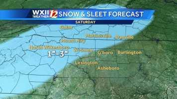 Snow and sleet forecast