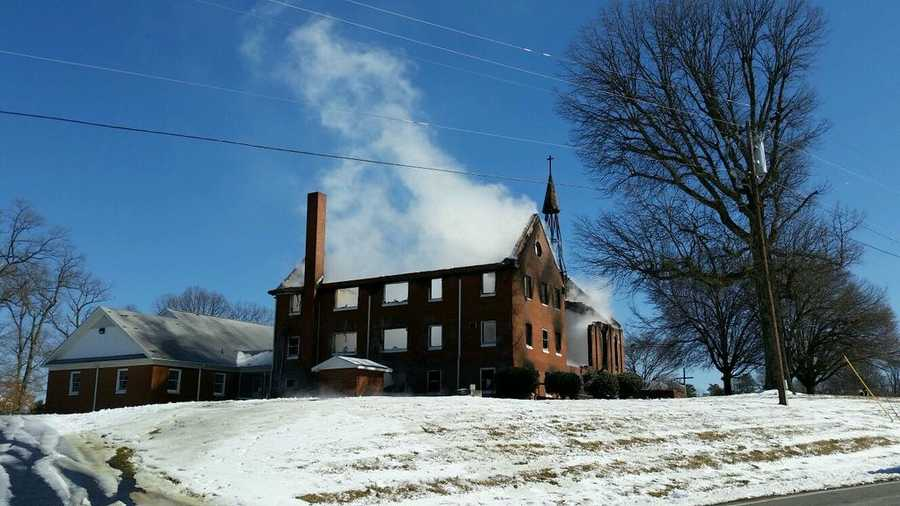 Mount Carmel United Methodist Church was heavily damaged in a fire Friday morning.