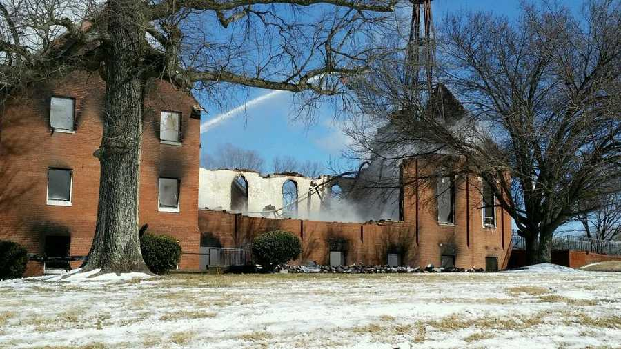 The roof and two walls of the church were destroyed.