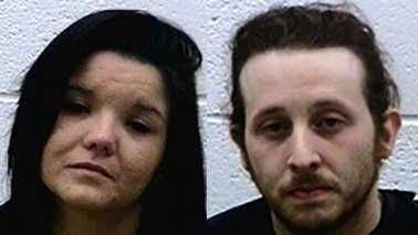 Jennie Reynolds, left, and Tyler McCurry, right