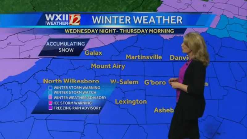 Winter storm warnings throughout the viewing area.