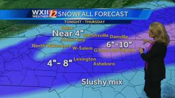 Latest snowfall forecast from the WXII 12 Weather Team.