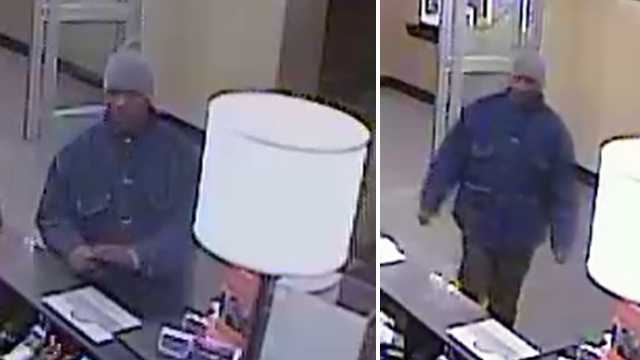Surveillance image of attempted armed robbery suspect at Greensboro Hampton Inn