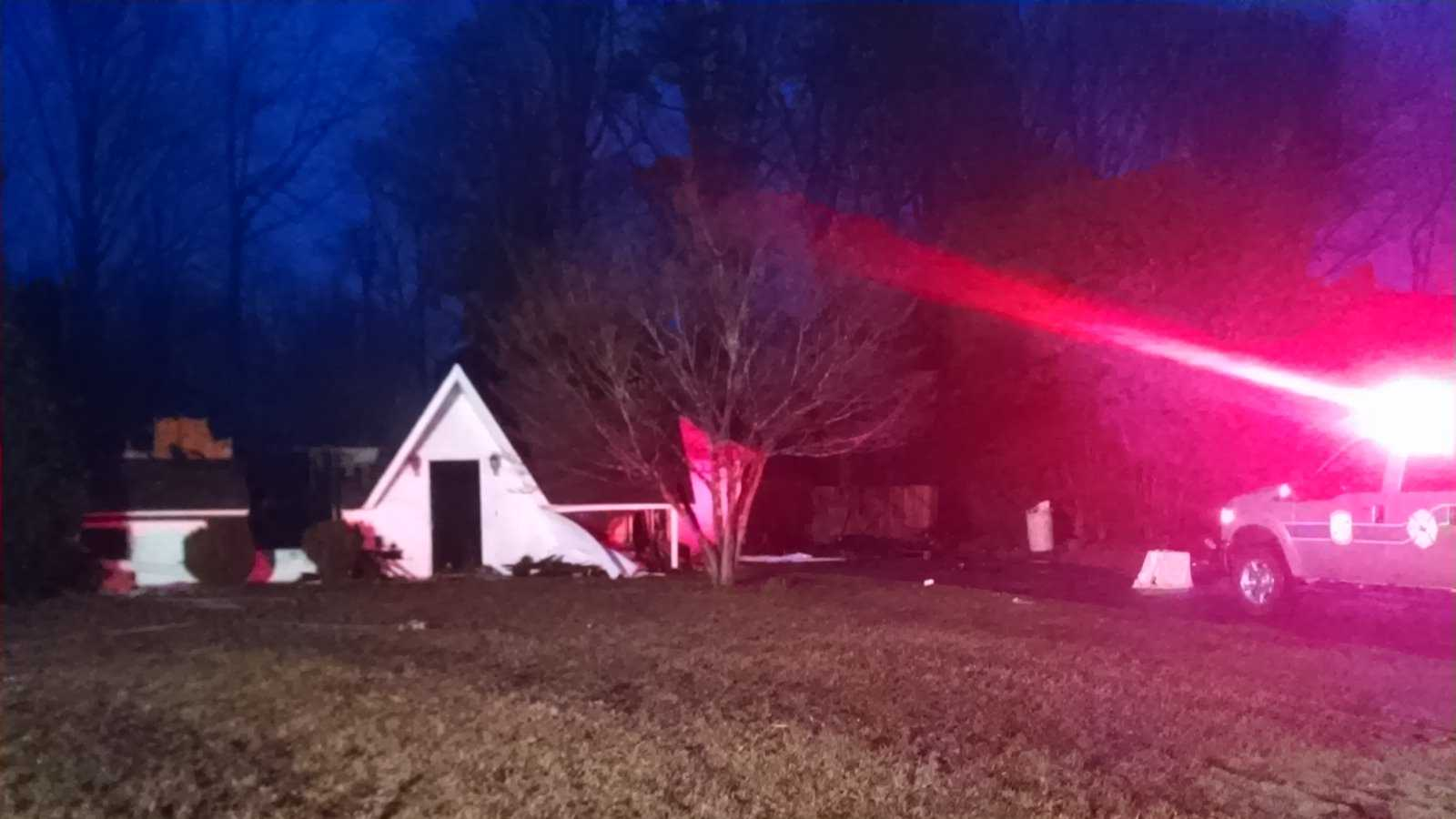 No one was inside a home when it caught fire Wednesday morning.