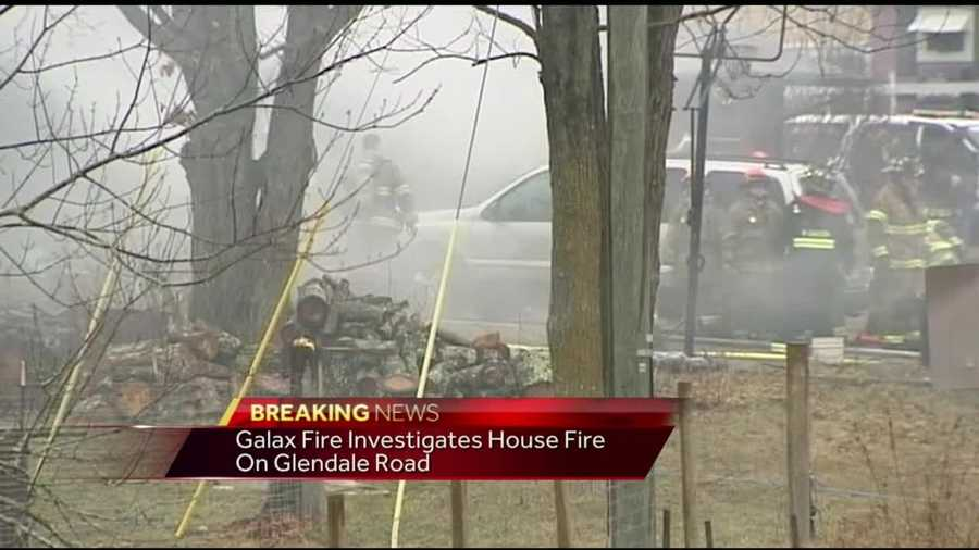 The fire was reported before 9 a.m. on Glendale Road.