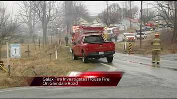 Multiple fire departments went to the scene of the fire.