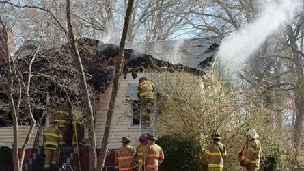 The fire occurred just after 8:30 a.m. in the area of Hickory Hill and Alamance roads in Burlington.