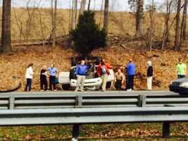 The crash occurred about 1:10 p.m. Monday just before the Kernersville city limit sign.