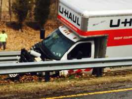 The crash involved two vehicles -- a Ford F-150 truck and a U-Haul truck that was towing a vehicle.