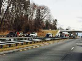 No injuries were reported after an accident on Business 40 westbound near Kernersville, though the crash tied up traffic.