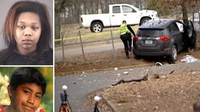 Top left: Imani Louise Blanche Stanley. Bottom left: Alexander Torralba Perez. Right: Crash scene.