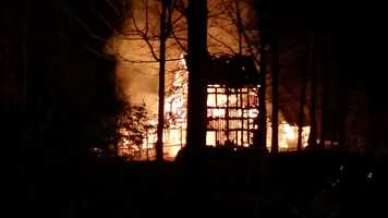 Forsyth County EMS says the fire started at J. Allen Farmer Inc. at about 6 a.m. The business is located on Fraternity Church Road.