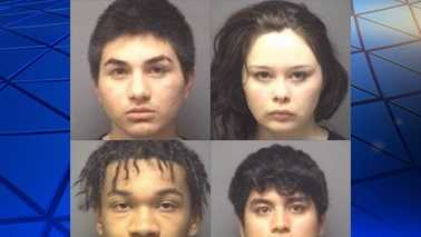 Top L-R: Brandon Mejia and Heather Rothrock. Bottom L-R: Rossario Stewart Jr. and Steven Uria.
