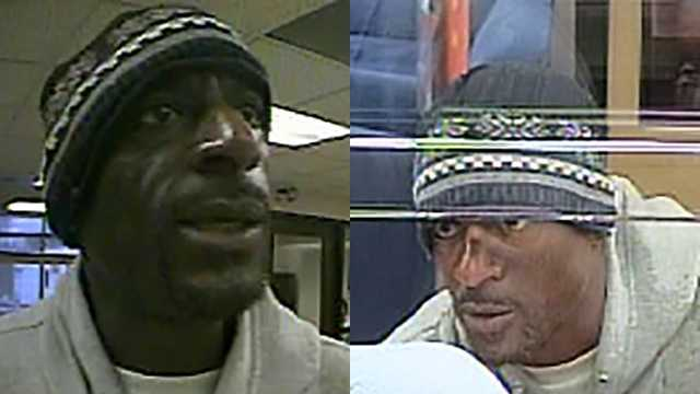 Surveillance images of bank robbery suspect at Winston-Salem SunTrust