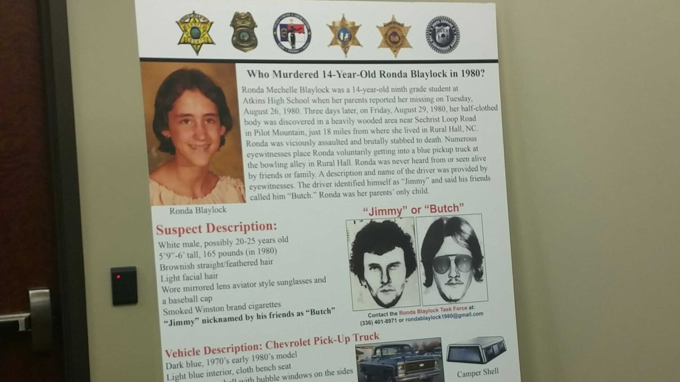 The body of Ronda Blaylock, 14, was discovered in 1980 – three days after she was reported missing.