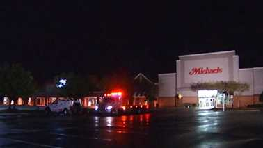 A man died after being struck by lightning in the parking lot of a Cary shopping center Thursday.