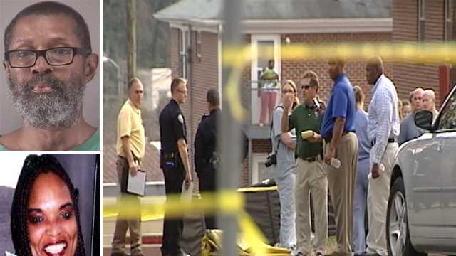 Top left: Cornelius Tucker. Bottom left: Constance Hall. Right: Death investigation scene.