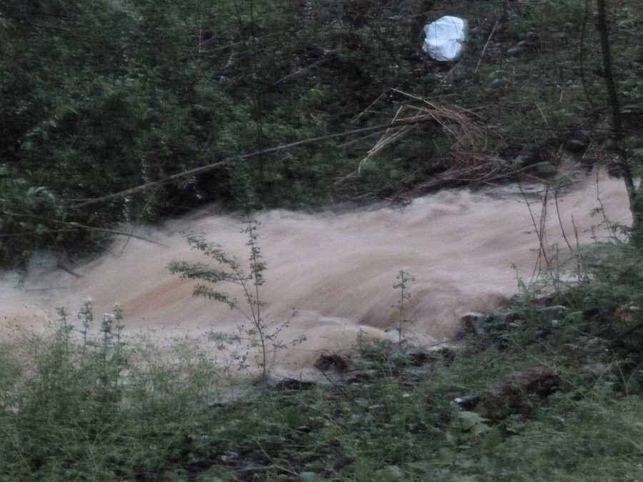 Now, here are Sunday flooding photos. This one is off Highway 103 in Mount Airy.