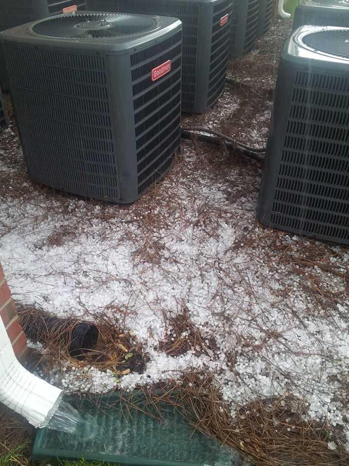 More hail in Winston-Salem