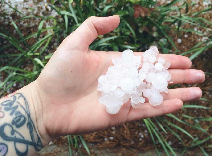Winston-Salem hail