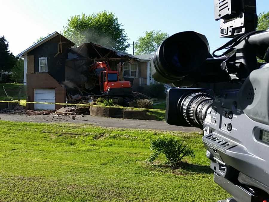 On Friday, April 24, the house was demolished.