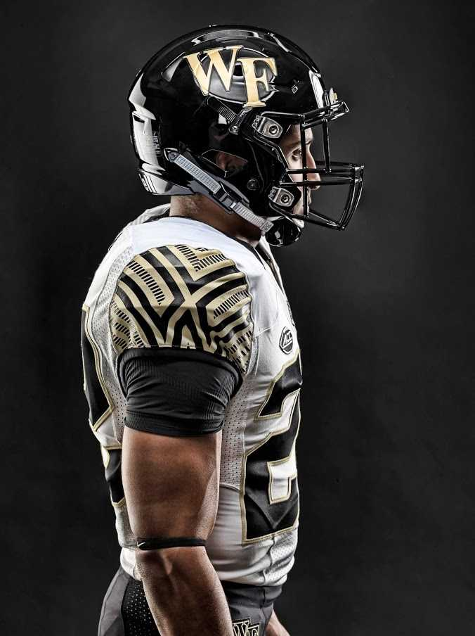 Wake Forest unveiled new football uniforms on Tuesday.