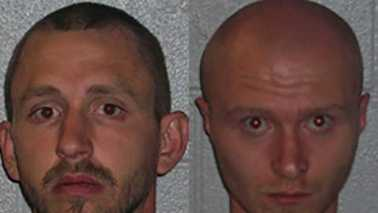 Derek Arold, left, and Matthew Arold, right