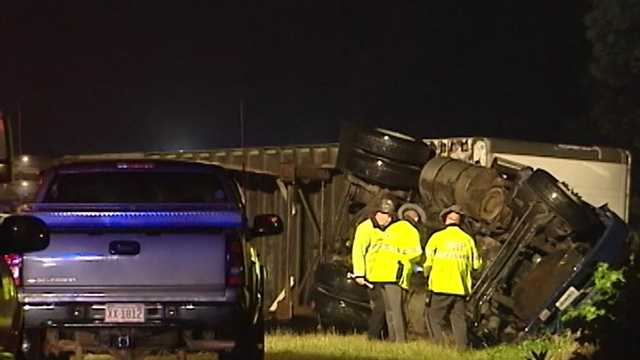A tractor-trailer driver was killed in a crash on Highway 220 near Madison early Thursday morning.