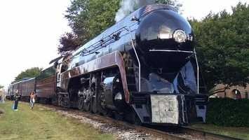 The iconic steam engine Norfolk & Western Class J No. 611 headed back to Roanoke on Saturday, passing through several Piedmont-Triad cities.