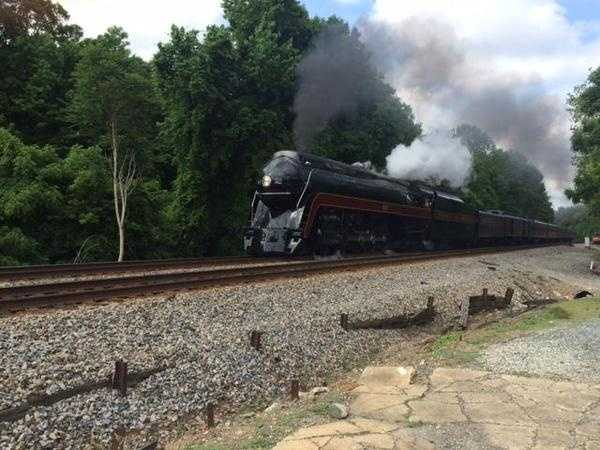 The steam engine travels through Greensboro (thanks to WXII's Bill O'Neil for this one)