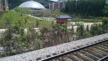 Passing by Liberty University in Lynchburg, Va.