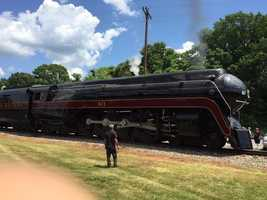 Residents were able to see the train in Lexington, Thomasville, High Point, Downtown Greensboro and Reidsville, among other places.