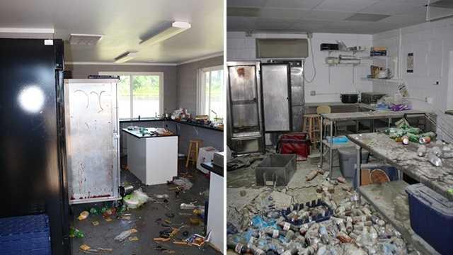 Concession stand vandalism Wheatmore High School, left, and Trinity High School, right