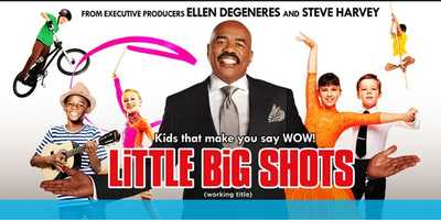"""Little Big Shots: Returns Soon. From Executive Producers Ellen DeGeneres and Steve Harvey comes a new variety series showcasing the nation's most extraordinarily talented kids. Host Steve Harvey (""""The Original Kings of Comedy,"""" """"Family Feud"""") will chat and even go toe to toe with these child prodigies after every performance, eliciting plenty of hilarious and heartwarming unscripted moments. From pint-size break-dancers to five-year-old piano virtuosos, these gifted performers will awe the nation with their talents, slay us with their cuteness and wow us with their accomplishments, proving once and for all that talent is born, not made. One-hour alternative.Host: Steve Harvey"""