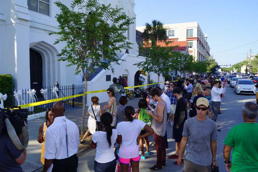 The city of Charleston is mourning the shooting deaths of 9 people inside a church. WXII's Taresh Moore is in Charleston and shared this photo gallery.