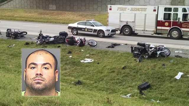 Daniel Serna, driver of truck that hit six motorcycles