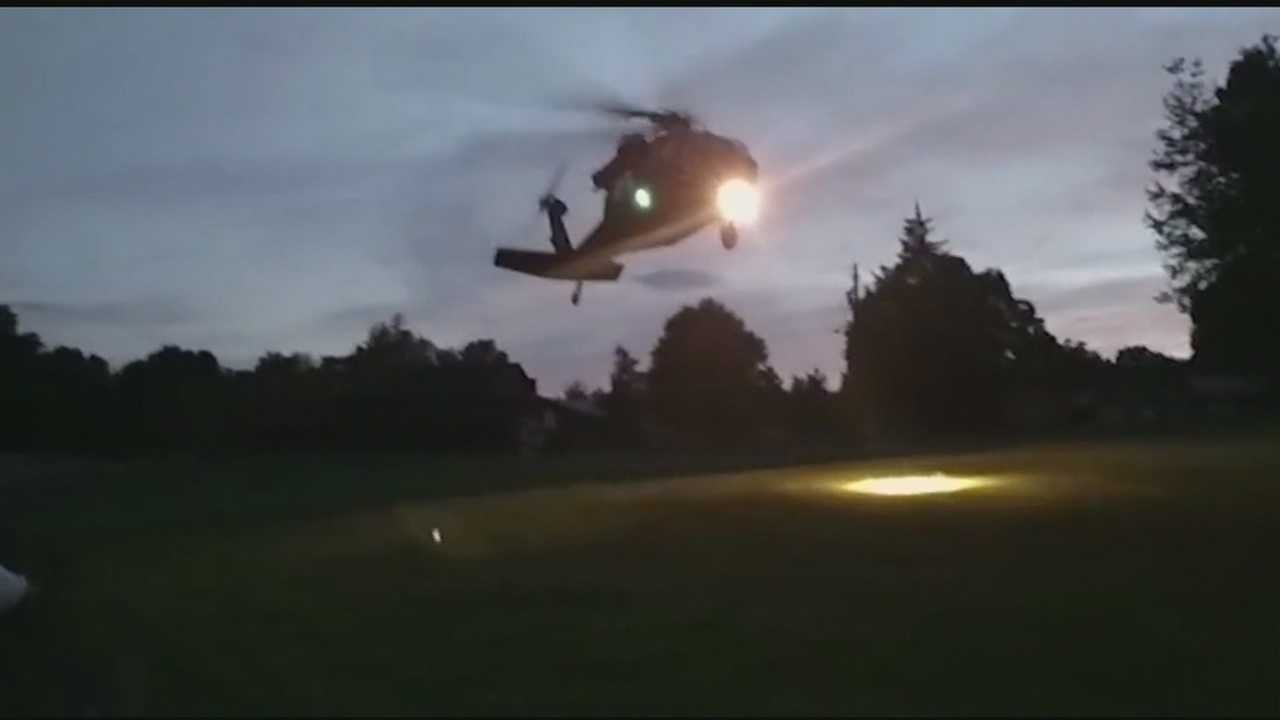 A surprise emergency landing by an Army helicopter rattled a few nerves in Forsyth County Tuesday night&#x3B; David Jeannot has more.